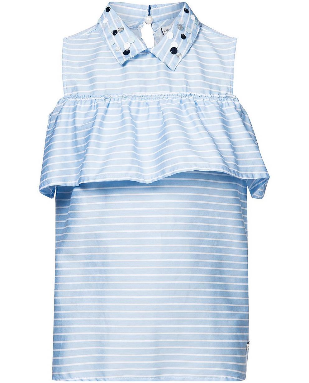 Hemden - AO1 - Gestreiftes schulterfreies Top